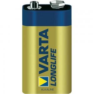 Алкална батерия VARTA LONGLIFE ALKALINE, 9 V - 1 бр. на най-добра цена