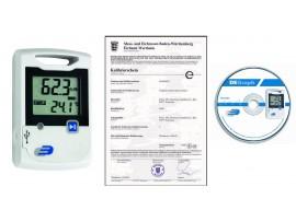 Професионални термометри по HACCP - Дата логер за температура и влажност - 31.1053 със софтуер, калибриран в Германия на най-добра цена