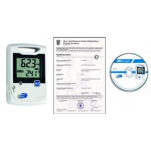 Дата логер за температура и влажност - 31.1053 със софтуер, калибриран в Германия на най-добра цена