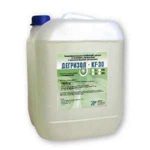 ДЕГРИЗОЛ KF 30 - 10 кг. - Киселинен високопенлив препарат за почистване и обезмасляване в  хранително-вкусовата промишленост на най-добра цена