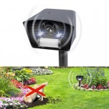 Електронен уред за прогонване на кучета и котки със светлина, ултразвук и датчик за движение, GARDIGO