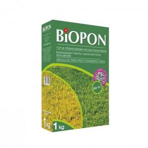 Гранулиран тор за тревни площи против пожълтяване 1 кг. за 50 кв. м. на най-добра цена