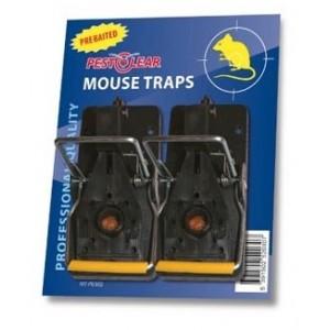 Капан за моментно убиване на мишки Pest Clear с примамка - комплект 2 бр. на най-добра цена
