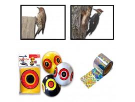 Птици - КОМПЛЕКТ против КЪЛВАЧИ: Плашило ОКО (3бр.) + Холограмна лента ALA STOP NASTRО - 45 м. на най-добра цена