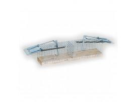 Метален капан за мишки с 2 отвора- 23 см/5 см/5 см