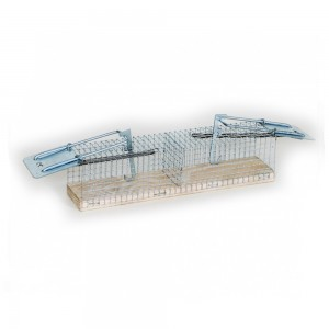 Метален капан за мишки с 2 отвора- 23 см/5 см/5 см на най-добра цена