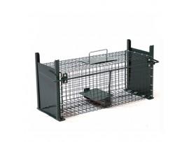 Метален капан за плъхове с 2 отвора - 50 см/18 см/18 см