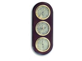 Хидромери - Метеорологична станция -  Барометър, Термометър, Хигрометър – Дърво цвят: ОРЕХ  -20.1064.03 на най-добра цена