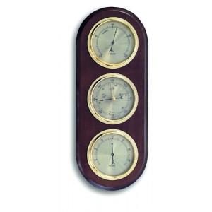 Метеорологична станция -  Барометър, Термометър, Хигрометър – Дърво цвят: ОРЕХ  -20.1064.03 на най-добра цена