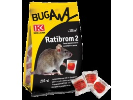 Мишки, Плъхове - Отрова за плъхове и мишки РАТИБРОМ 2 - 200 гр на най-добра цена