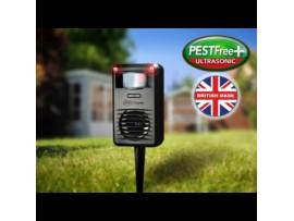Pestfree+ ултразвуков уред прогонващ котки, лисици, порове, белки, невестулки, норки за 88 кв м