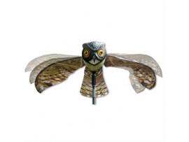 Борба с катерици - Плашило БУХАЛ с размах на крилете 110 см, прогонващо птици (Гълъби, Скорци, Врабчета, Пчелояди) и гризачи (мишки, плъхове, зайци, катерици) на най-добра цена