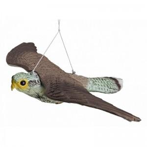 Плашило ЯСТРЕБ с размах на крилете 54 см, прогонващо птици (Гълъби, Скорци, Врабчета, Пчелояди) и гризачи (мишки, плъхове, зайци, катерици)  на най-добра цена