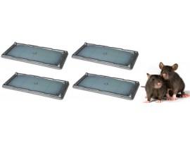 Всички продукти - 2 Комплекта (4 бр.) КАПАН - ТЕРМИНАТОР с лепило за плъхове - 13 х 26 см. на най-добра цена