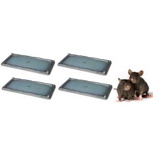 ПРОМОЦИЯ: 2 Комплекта (4 бр.) КАПАН - ТЕРМИНАТОР с лепило за плъхове - 13 х 26 см. на най-добра цена