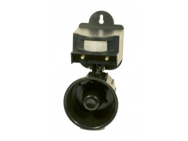 Звуков електронен апарат (Птицегон) с датчик за прогонване на вредни птици  (Врабчета, Пчелояди, Врани, Свраки, Косове, Скорци) за 4 декара