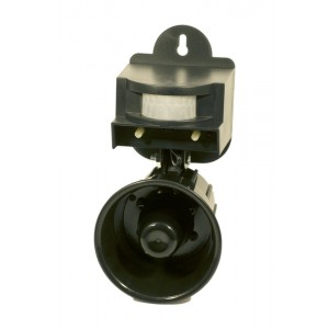 Звуков електронен апарат (Птицегон) с датчик за прогонване на вредни птици  (Врабчета, Пчелояди, Врани, Свраки, Косове, Скорци) за 4 декара на най-добра цена