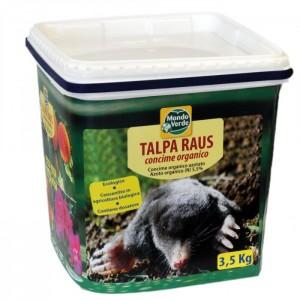 Продукт отблъскващ къртици, сляпо куче, полевки, полски мишки, попово прасе - TALPA RAUS - 3,500 кг. на най-добра цена