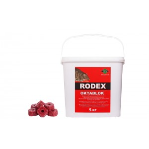 Родекс Октаблок восъчни блокчета - 5 кг. отрова за мишки и плъхове на най-добра цена