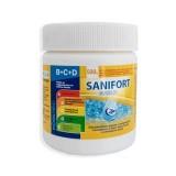 САНИФОРТ - 0.500 кг. гранулат с мерителна лъжичка, за дезинфекция на вода в плувни басейни (с морска, със сладка или минерална вода)