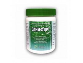 САНИФОРТ - бърз хлор, 1 кг. гранулат за дезинфекция на питейна вода и вода в плувни басейни с мерителна лъжичка