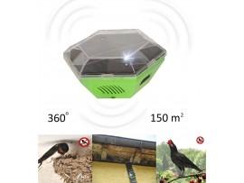 Как да прогоня лястовиците - Соларно мобилно, ултразвуково устройство против птици (ЛЯСТОВИЦИ, ЧАЙКИ) за 150 кв.м. GARDIGO на най-добра цена