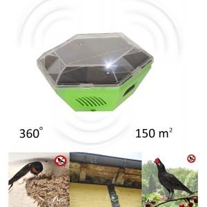 Соларно мобилно, ултразвуково устройство против птици (ЛЯСТОВИЦИ, ЧАЙКИ) за 150 кв.м. GARDIGO на най-добра цена