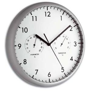 Стенен часовник с термометър и хигрометър - 98.1072 на най-добра цена