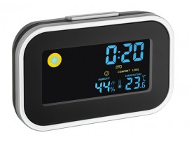 Промоции - Цифров часовник с будилник, вътрешна температура и влажност - 60.2015 на най-добра цена