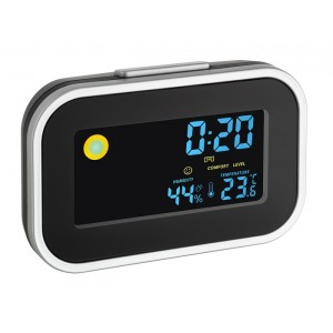 Цифров часовник с будилник, вътрешна температура и влажност - 60.2015 на най-добра цена