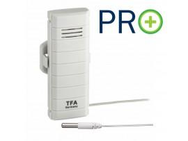 WEATHER HUB-Предавател за температура с водоустойчив кабелен сензор, PRO функции - 30.3308.02
