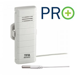 WEATHER HUB-Предавател за температура с водоустойчив кабелен сензор, PRO функции - 30.3308.02 на най-добра цена