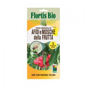 Жълт холотропен капан с лепило за Листни въшки и Плодови мушици, Flortis Bio – 5 бр. на най-добра цена