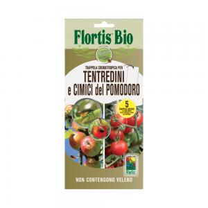 Бял холотропен капан с лепило за плодови и листни мухи, оси и зелена миризлива дървеница по доматите, Flortis Bio – 5 бр. на най-добра цена