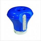 Плаващ диспенсър за хлорни таблети - 200 гр. (с термометър)